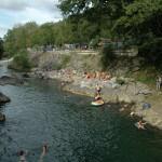 Camping bordure rivière mauleon